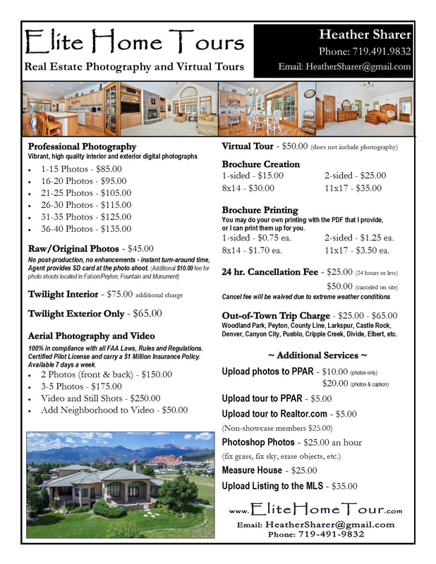 Real Estate Photography Price List Elite Home Tours Real Estate